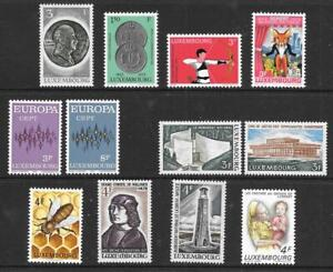 LUXEMBOURG - 2 x Sets + 8 x Singles, MNH - 1972/73 Issues.