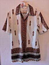 "(6) Men's original 1960's DonGiovanni ethnic design with front pockets shirt 42"""