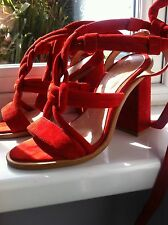 office Ava knotted sandals red size 5