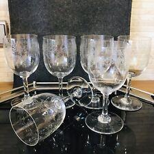 Baccarat France Crystal Gläser Sevigne 6 Weingläser Wasser Kelch 15,5 cm