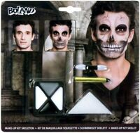 Party Make Up Skeleton Face Paint Kit Dead Horror Fancy Dress Skull Scary New