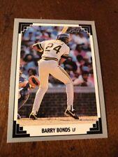Barry Bonds 1991 LEAF baseball card