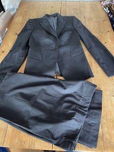 Super Chic HUGO BOSS Graphite Grey Wool Gaberdine Tailored Trouser SUIT, 10/12