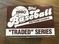 1990 Topps Traded Series Set-132 MLB Baseball Cards Dave Justice - New/Unopened