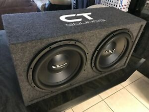 """CT Sounds Dual Bio 12"""" In V2.0 Subwoofer Bass Pack with Factory Tuned Ported Box"""