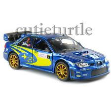 Kinsmart 2007 Subaru Impreza WRC Rallye Monte Carlo #7 1:36 Diecast KT5328D Blue