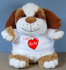 I Love You Puppy - Personalised with a Name - Ideal Valentine's Day GIFT Love U