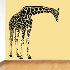Wall Decal Sticker Giraffe Animals Jungle Safari Kids Nursery Bedroom (r614)