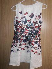 Womans Butterfly Print Summer Pageant Dress