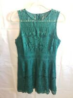 Adelyn Rae Women's Dress Fit & Flare Lace Sleeveless Size L