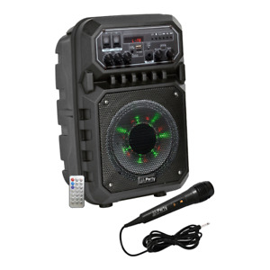 """PLS Portable Sound System 6.5"""" 200W Active Speaker inc Microphone Party Disco PA"""