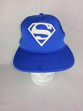 Superman DC Comics Mesh Trucker Snapback Hat Cap Blue & Red NWOT