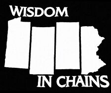 Wisdom in chains pahc weatherproof decal nyhc madball terror agnostic front