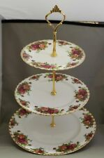 "Royal Albert - ****3-tier Cake Stand**** - ""Old Country Roses"" - Made in England"