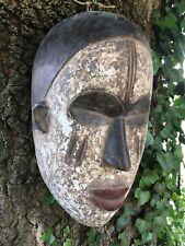LARGE DECORATIVE CARVED OLD TRIBAL 'AFRICAN'  MASK