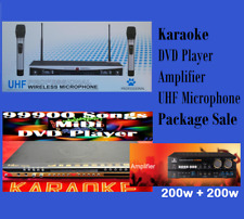 99900 English Tagalog Songs Midi Karaoke DVD Player UHF 2mics & Amplifier