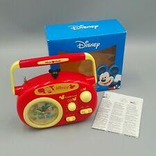 Disney Mickey Mouse Radio + Wecker + Uhr - OVP CiB 💥 Disney Sammler Micky Maus