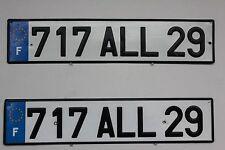 #717ALL29PAIR FRANCE LICENSE PLATE EUROPEAN RENAULT CITROEN PEUGEOT PSA