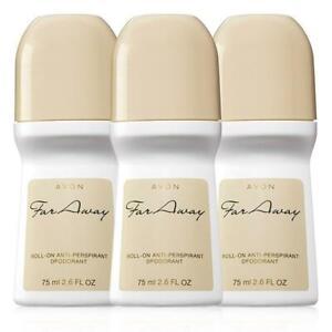 Avon Far Away Roll-On Antiperspirant Deodorant - Set of 3