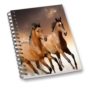 Running Horse Printed Notebook Multi-Color Journal Diary Notebook Gift