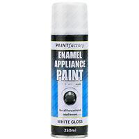 5 x 200ml White Enamel Household Appliance Aerosol Spray Paint Metal Etc..