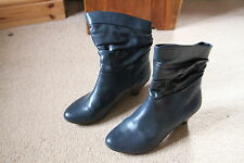 "Pinkie Ladies Boots size 37 Grey with 2"" Heel (size 4)"