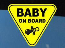 Baby On Board SELF ADHESIVE VINYL STICKER Child Boy Car Sign Window Safety +