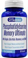 Phosphatidylserine 500mg Memory Ultimate Plus Ginkgo We Like Vitamins