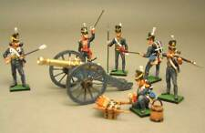 Painted Tin Toy Soldier english Artillery 54mm 1/32