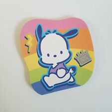 Pochacco Dog Rainbow Notepad - Stay True - Vintage 2002 - RARE - Die Cut