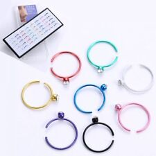Wholesale 1 Box 40pcs Crystal Stainless Steel Nose Ring Studs Hoop Body Piercing