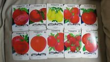 Garden Collectibles: Vintage Seed Package Set of 10 Vintage Tomato Seed Packs (N