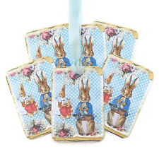 NEW Peter Rabbit Blue Favour Gift Tags-Baby Shower-Beatrix Potter Vintage 6 tags