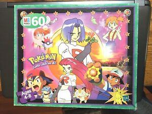 """Pokemon 60 Pc.Puzzle(Milton Bradley)""""Gotta Catch em All""""Complete;Box,Pieces 1999"""