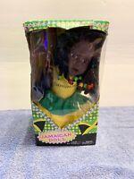 """12"""" Jamaican Plush Baby Doll w/Hair Braids African American Jamaica Souvenir"""