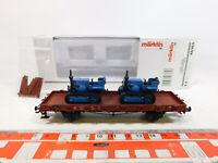 CL715-0,5# Märklin H0/AC 46363 Rungenwagen DB NEM KK KKK+2 Lanz Bulldog NEUW+OVP