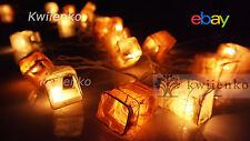 LED Batterie or Stecker Japanese Papier Lichterkette Party,Patio,Deko,Hochzeit,