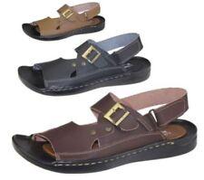 Calzado de hombre sandalias de color principal negro sintético