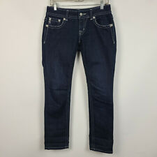 Miss Me Cropped Skinny Dark Wash Womens Jeans Size 28 JE5758Y3