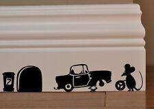 SALE! MOUSE Mechanics Car funny wall art decal vinyl stickers decor Tools f