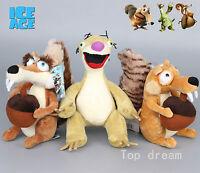 Ice Age Sid Scrat Scratte Squirrel Soft Plush Toys Stuffed Animal Doll 9'' Teddy