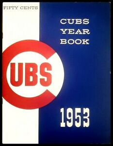 1953 Chicago Cubs Year Book
