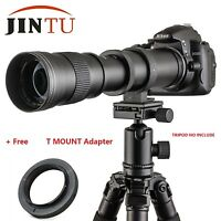 JINTU 420-800MM Telephoto Lens for Canon Rebel T4i T3i T3 T2i T2 T1i XT XTi XS