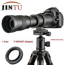 JINTU 420-800mm f/8.3 Telephoto Lens For Canon EOS M EF-M mount  M2 M3 M4 M5 M6