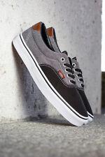 Vans Era 59 (Canvas & Chambray) Black Men's Classic Skate Shoes SIZE 12