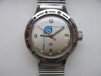 Rare vintage Soviet mechanical men's wrist watch WOSTOK Amphibian Surgut USSR