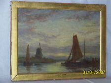 Jacob Hendricus Maris Master Dutch Painter Original Panel Seascape