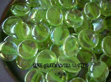 SWIRL LIME Green Luster Medium 25 Glass GEMS * MOSAIC TILE Nugget