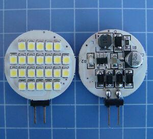 10pcs G4 LED Car Boat Light Bulb 24-1210 SMD LED AC/DC 12-24V White 6500K