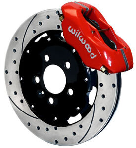 "WILWOOD DISC BRAKE KIT,FRONT,01-10 CHRYSLER PT CRUISER,12"" DRILLED ROTORS,RED"